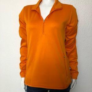 Nike Golf bright orange quarter zip sweatshirt M